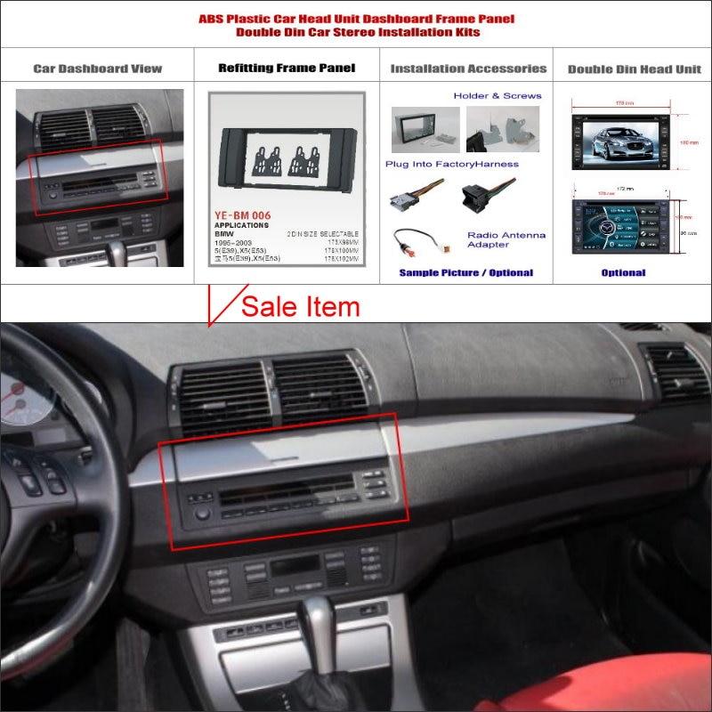 Us 68 0 15 Off Liislee For Bmw 5 E39 X5 E53 1995 2003 Aftermarket Radio Dash Board Kit 2 Din Plastic Fascias Car Audio Panel Frame Fascia In