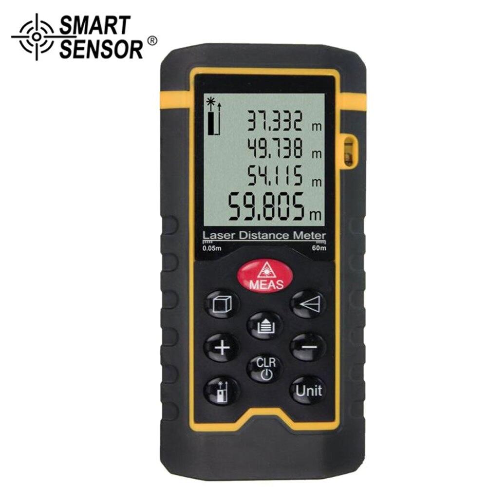SMART SENSOR Digital Distance Range 0.05-40/60/80/100 Meter Laser Finder Measure
