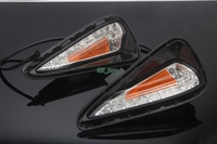 High Quality 12V Turn Signal White Yellow LED Daytime Running Light Fog Light 2pcs For Toyota