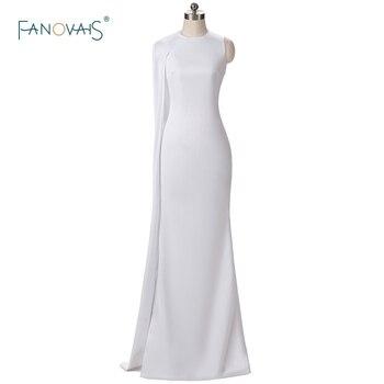 3948cbee7 Sexy Oscars red Alfombras Vestidos Karlie Kloss blanco Vestidos de noche  con el cabo sirena vestido de baile largo vestido de fiesta s01