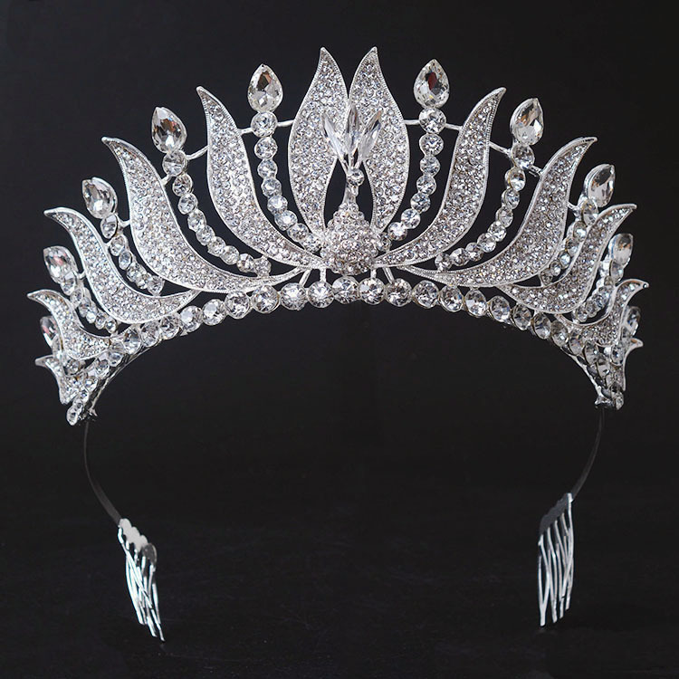 New Arrival Gorgeous crystal Peacock Beauty Queen crown Fashion Noble rhinestone tiara for Bridal wedding crown