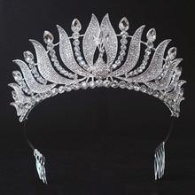 Новое Прибытие Великолепная кристалл Павлин корону Королевы Красоты Мода Благородный горный хрусталь тиару для Новобрачных свадьба корона аксессуары для волос