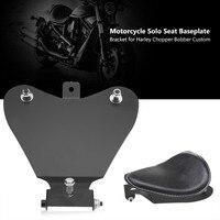Motorcycle Solo Seat Base Plate Bracket for Harley Chopper Bobber Custom Motorcycle Seats Heavy Duty Steel