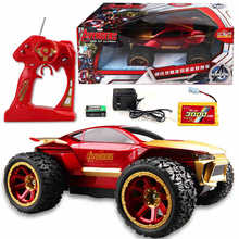 2016 Super sedign Avengers Iron Man Device RC Car 25 KM/H 4CH 4WD 4*4 Rock Crawlers Off-road Remote Control Racer Vehicle Toys