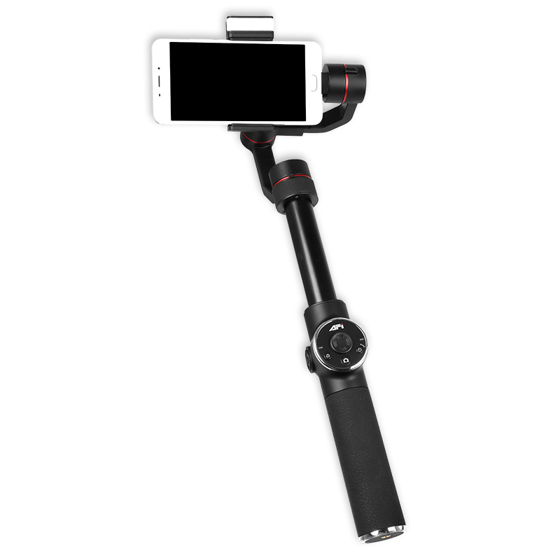 AFI V5 3-axis Mobile Phone Stabilizer Portable Handheld Gimbal Fill Light Selfie Stick wewow fancy smartphone 1 axis gimbal video stabilizer one axis steadicam mobile mount led light selfie stick in stock