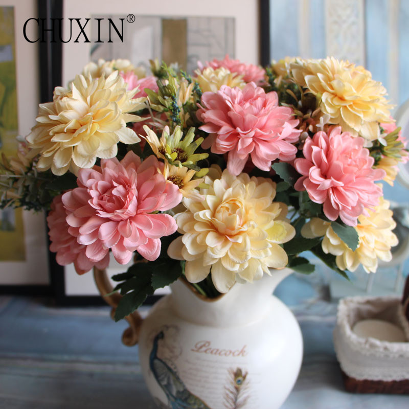 Us 7 83 10 Off Real Touch European Marigold Decorative Artificial Set Flowers Home Decoration Wedding Flowers Table Decoration Flowers In Artificial
