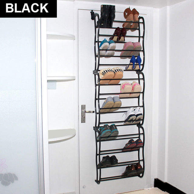 4/8/12 Layers Door Hanging Shoe Cabinet Simple Shoe Rack Multilayer  Quarters Assembly Shoe Hanger Storage White/black S5XJ016