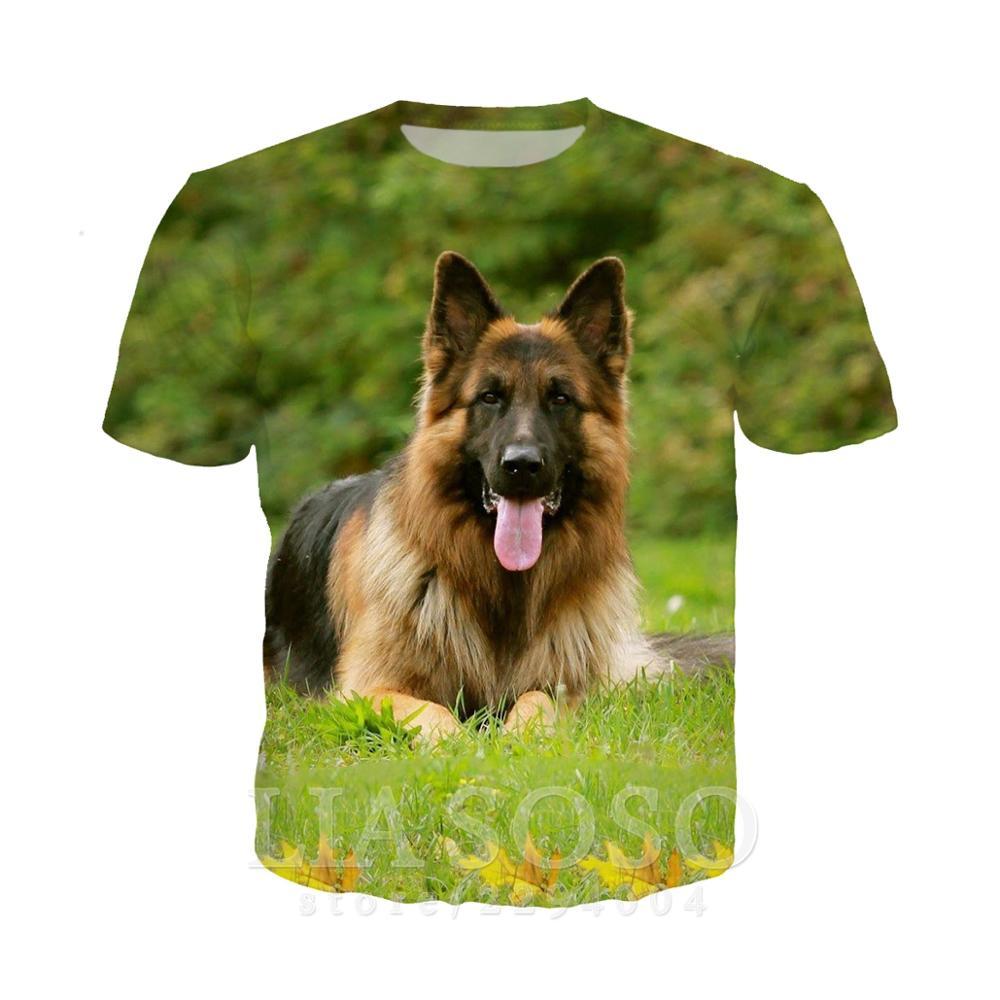 German Shepherd In Pocket T Shirt Dog Lovers Black Cotton Men Made in USA