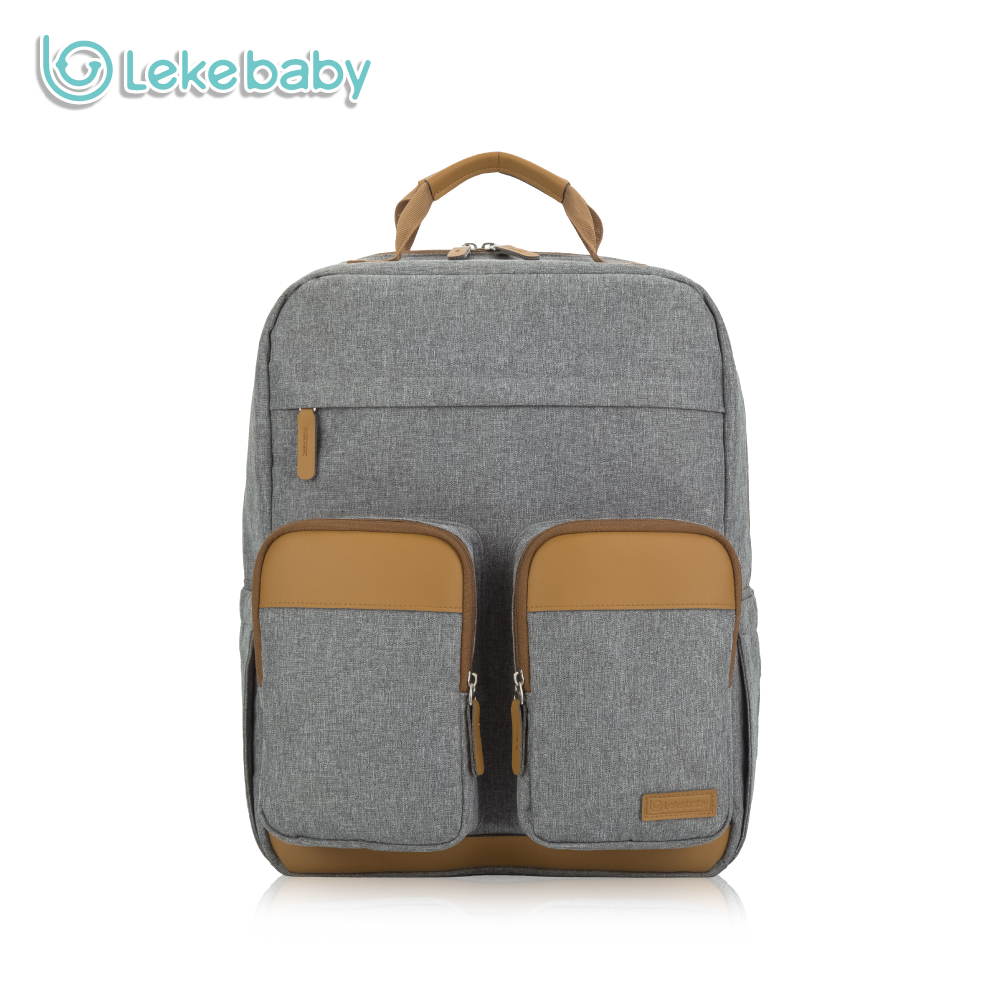 Lekebaby Fashion Maternity Bag Diaper Bag Backpack for Baby Care Large Capacity Travel Tote Bag for Stroller with Changing Pad