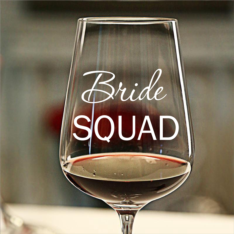 Bride SQUAD Stickers