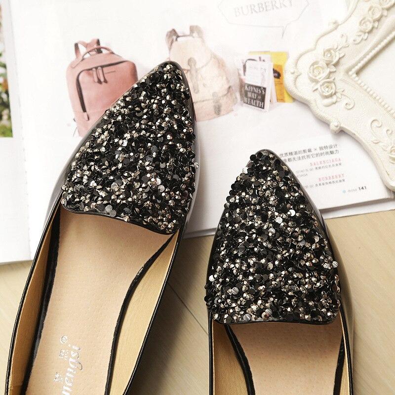 Sandales Bling Abricot Confortable De Apricot Chaussures black 2018 Grande Femme Noir Appartements Diapositives Mode Glitter Taille D'été qxAA5vwH6