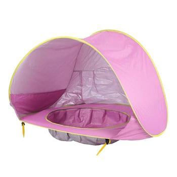 Portable Children's ocean outdoor sun protection pool beach castle ball pool toy house 2