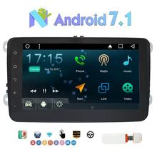 Double Din Android 7.1 Nougat 8″ GPS Car Stereo Autoradio for Volkswagen Support GPS,Bluetooth,WIFI,CANBUS,FM/AM Radio+3G Dongle