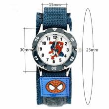 PENGNATATE Children Watches Boys Spiderman Hand Watch Gifts Fashion Luminous Analog Nylon Strap Cartoon Kids Bracelet Wristwatch