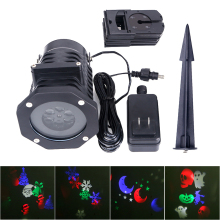 Christmas Laser Projector Lights Outdoor Waterproof Landscape Spotlight LED Stage Light for Home Party Decoration