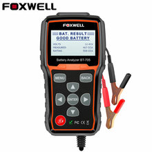 Foxwell BT705 12 В 24 в автомобильный тестер аккумуляторной батареи система диагностический анализатор инструмент обычный затопленный AGM гель тип автомобильный Грузовик анализатор батареи