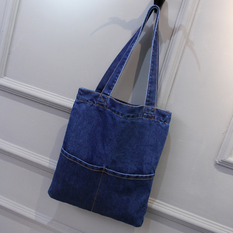 6028 Canvas Jeans Single Shoulder Bag Handbag Multifunctional Bag