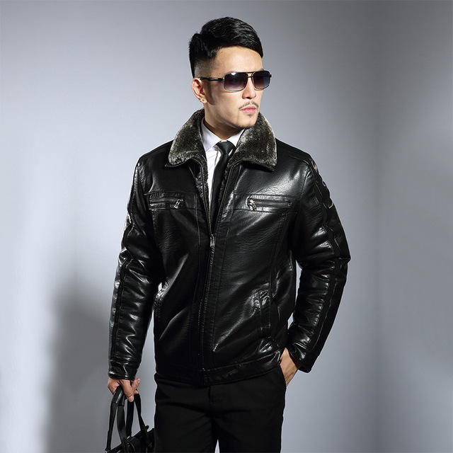 Winter Leather Jacket For Male Clothing Faux Leather Jackets Male  Brand Clothing Casual Fashion Thicken Leather Coat Outerwear