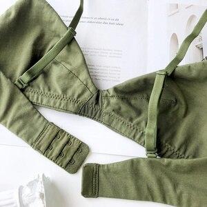Image 5 - ملابس داخلية مريحة مصنوعة من القطن مقاس كبير للنساء مع صدرية على شكل مثلث وبمقاس كبير ملابس داخلية مثيرة وفتحة صدر على شكل حرف V عميقة مع حمالة صدر