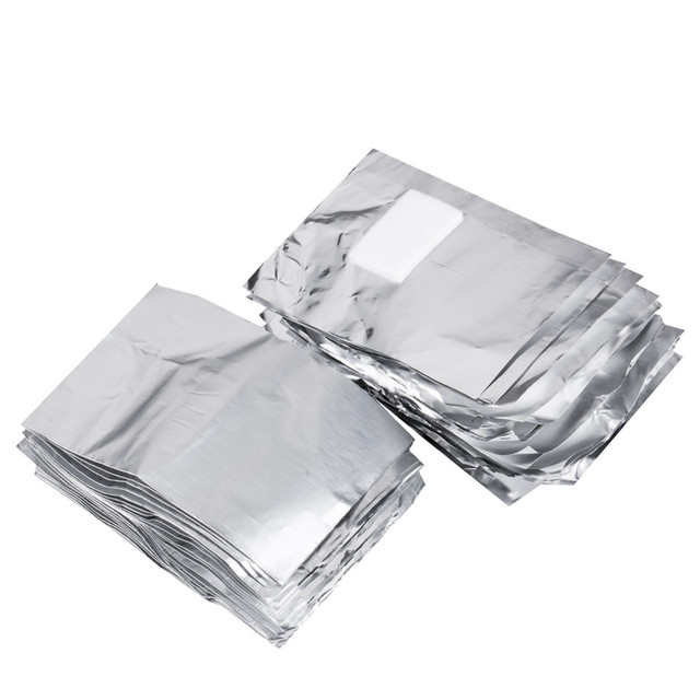 100Pcs With 50Pcs Aluminium Foil Remover Wraps with Acetone Nail Art Soak Off Acrylic Gel Nail Polish Removal