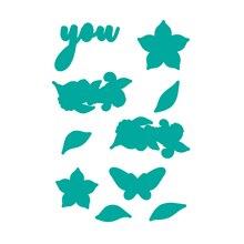 YaMinSanNiO Plant Dies Flower Metal Cutting for Craft Scrapbooking Album Embossing Die Cut New Letter Element