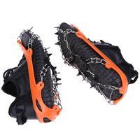 1 Paire 11 Dents En Acier Pince À Glace de Spike pour Chaussures Anti Slip Escalade de Neige Spikes Crampons Crampons Chaîne Griffes Poignées Bottes Couvrent