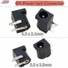JCD DC-005 Black DC Power Jack Socket Connector DC005 5.5*2.1mm 2.1 Socket Round the Needle 5.5 x 2.5 mm Female DC Power jack 200 500pcs dc 005 5 5 2 1 dip 3 pin socket power supply connectors jack socket female terminals adapter blocks universal socket