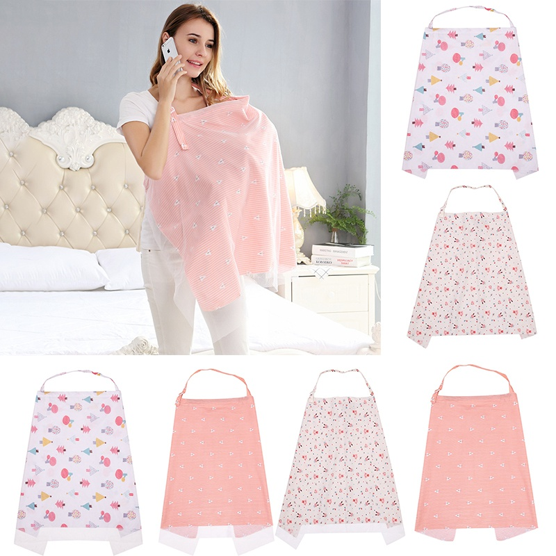 Mother Outing Breastfeeding Towel 100% Cotton Baby Feeding Nursing Covers Anti-glare Nursing Cloth 98cm*70cm A1
