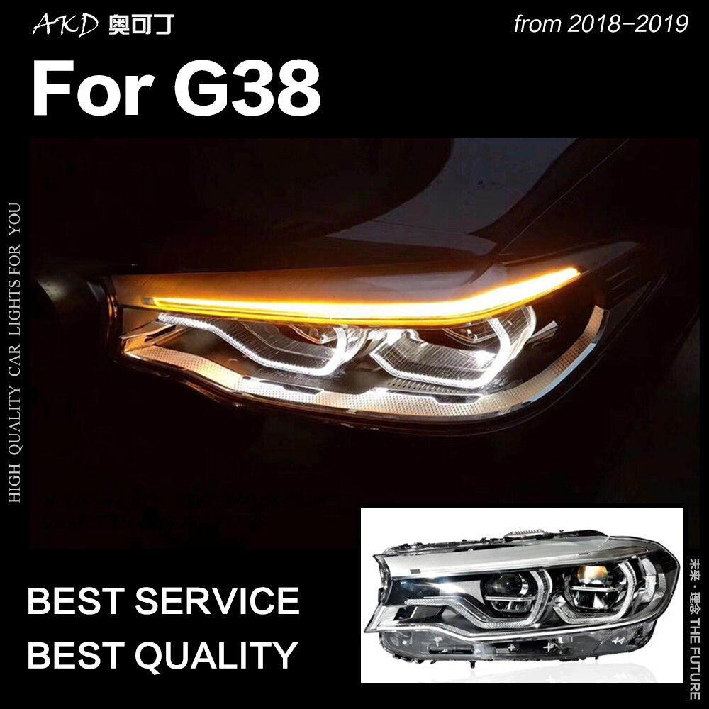 AKD Car Styling Head Lamp for BMW G38 Headlights 2018 2019 520i 523i LED Headlight DRL