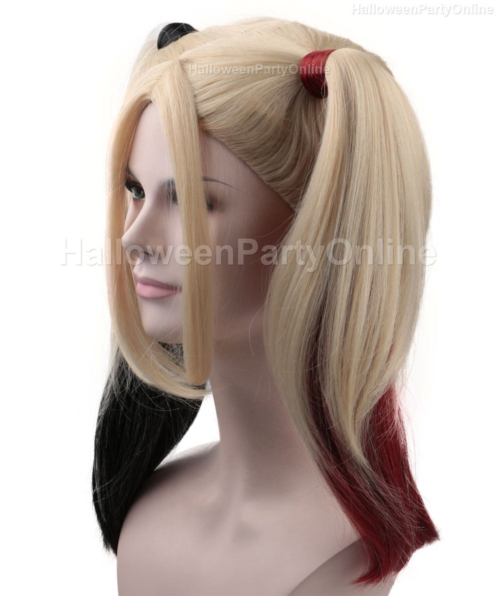 US in Stock) Halloween Party Online Harley Quinn Wig Super Power ...