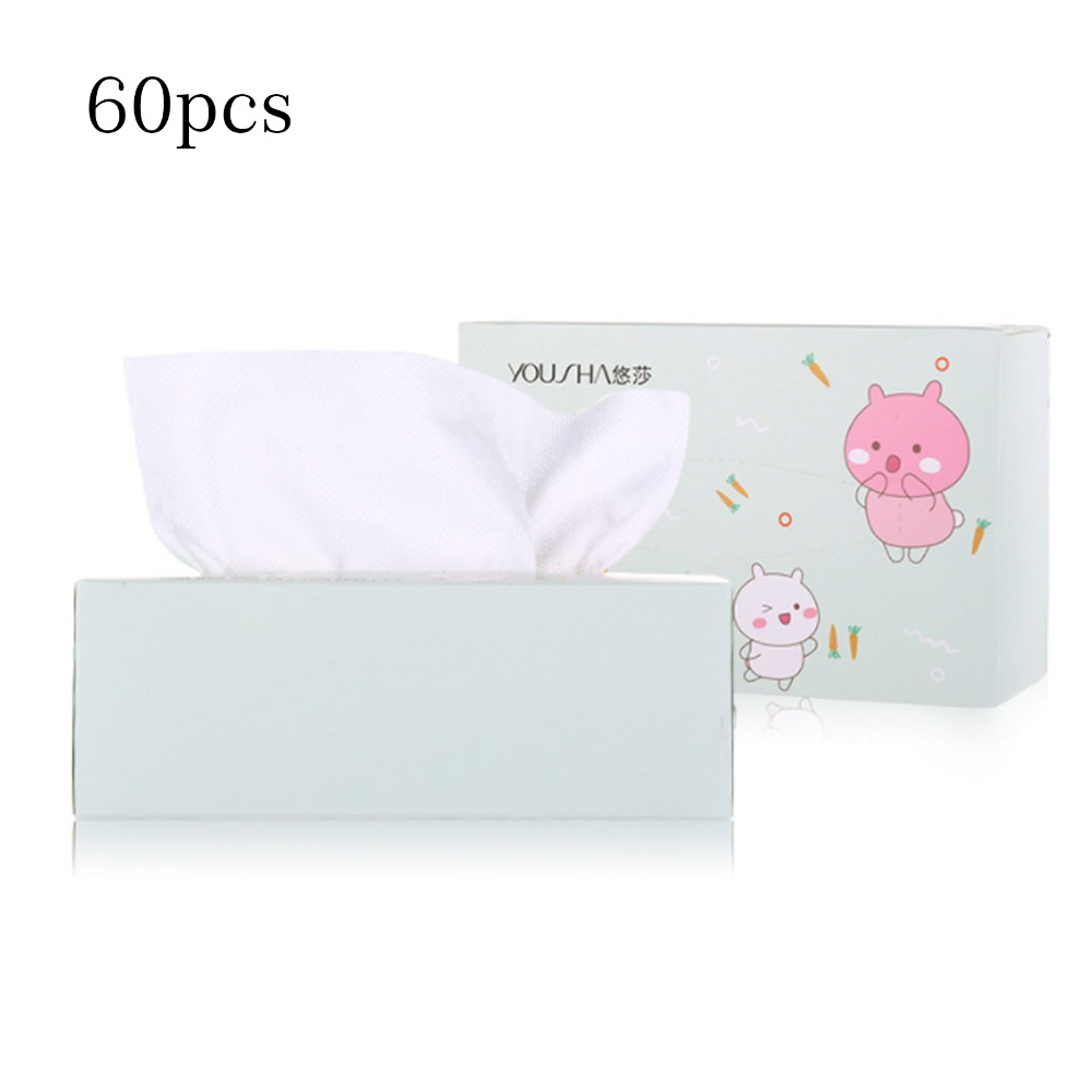 60pcs Travel Cotton Mesh Disposable Wash Towel Soft Clean Beauty Towel Uncompressed Wet And Dry Towel