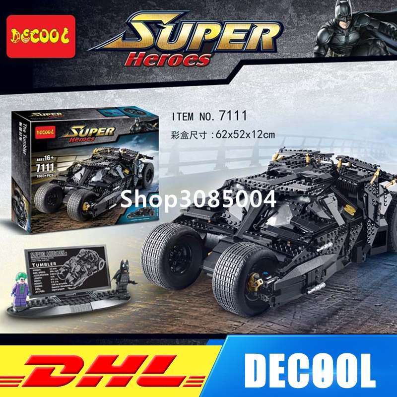 IN Stock DHL Decool 7111 Super Heroes Batman The Tumbler Blocks Bricks Educational Children day's Gift DIY Compatible Bela 76023 decool 7118 batman chariot super heroes of justice building block 518pcs diy educational toys for children compatible legoe