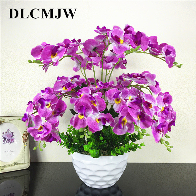 Artificial Flowers Silk Orchid DIY Artificial Orchid Fake Flowers Bouquet for Wedding Home party office Decoration flowers