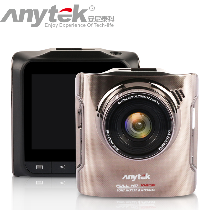Anytek A3 DVR Camera King of Night Vision Dash Cam with Novatek 96655 CPU IMX322 Sensor 2.4inch FHD 1080P Wide Angle Black Box junsun car dvr camera video recorder wifi app manipulation full hd 1080p novatek 96655 imx 322 dash cam registrator black box