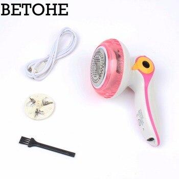 Jiqi recargable mini USB Quitapelusas Bola de Pelo trimmer máquina de afeitar portátil Depiladoras ropa removedor de pelo
