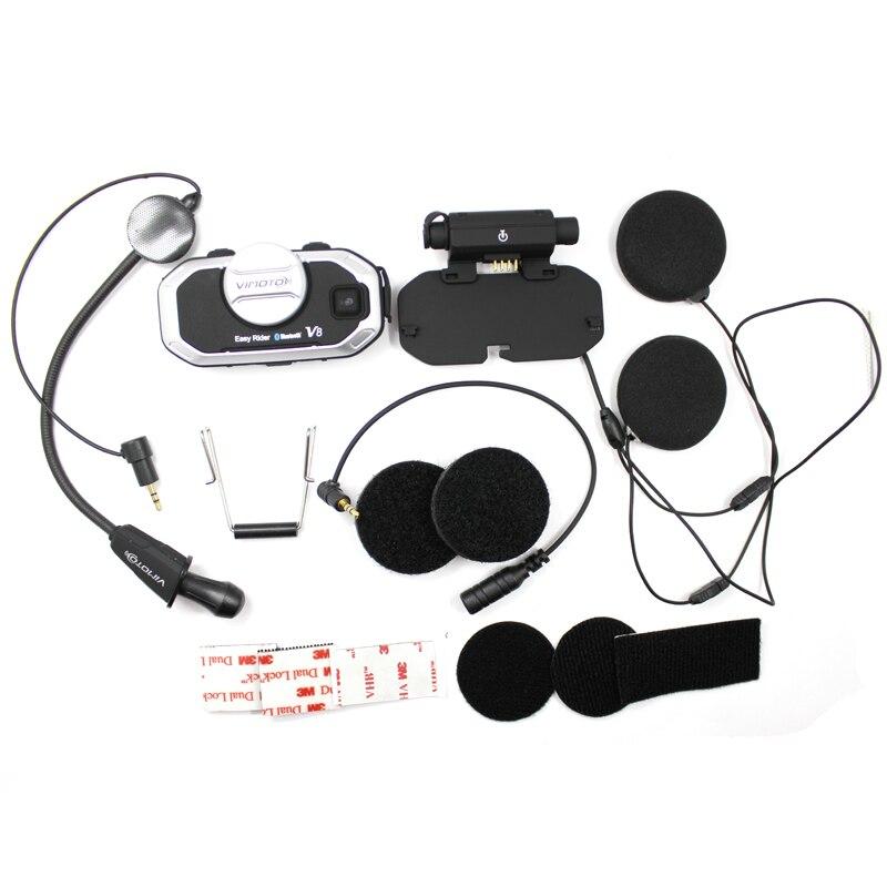 Version anglaise casque Easy Rider vimoto V8 casque Bluetooth casque moto stéréo casque pour téléphone portable et GPS Radio 2 voies - 5