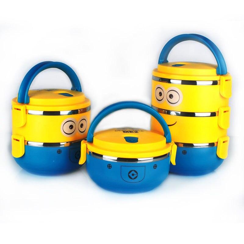 1 pcs Portátil Caixa de Armazenamento Recipiente de Alimento Dos Desenhos Animados Do Bebê Alimentação Infantil Manter Quente Caixa De Comida De Viagem para o Bebê Crianças Cuidados