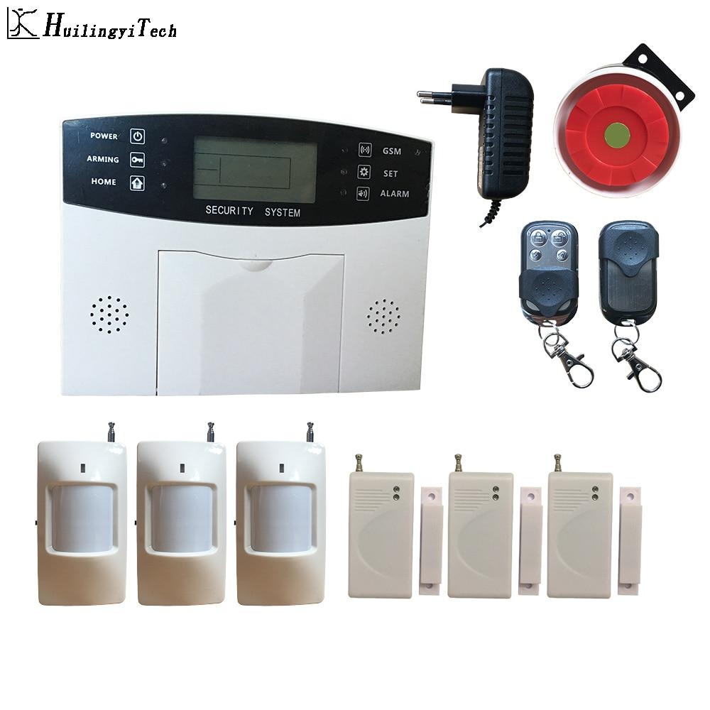 Wireless GSM Alarm System DIY Kit APP Control Auto Dial Home Alarm Security Motion Detector Sensor House Burglar Alarm System