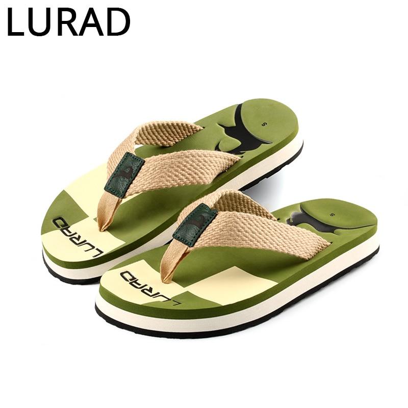 ac775da76bd3 LURAD Summer flip flops Beach for Men Flat Slippers-in Slippers from Shoes  on Aliexpress.com