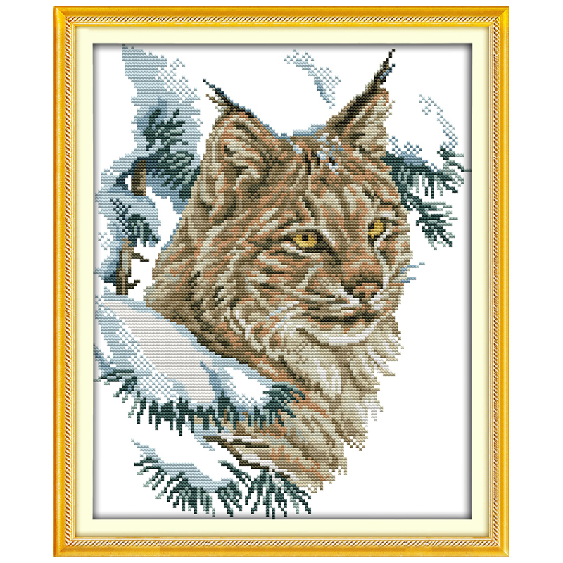 The Wildcat Counted Cross Stitch 11CT 14CT Cross Stitch animals Cross Stitch Kit Embroidery for Home Decor Needlework