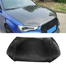 Carbon Fiber Front Engine Hood Vent Cover For Audi A3 S3 2013 2014 2015 2016 2017 2018 Car Bonnet Cap