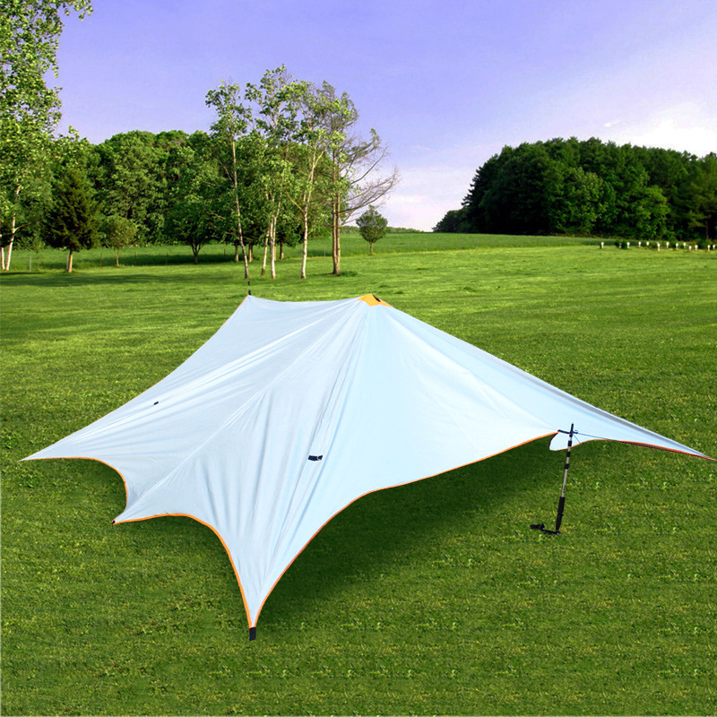 Portable Shade Awning Tarp Waterproof Tent Beach Sun Shelter Umbrella Tents Outdoor Camping Hunting Car Center In From Sports