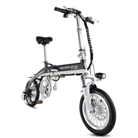 14 7 Speed 240W 48V/8A Portable Folding Electric Bicycle, Mini E Bike, Electric Bike With USB Interface,velos electriques