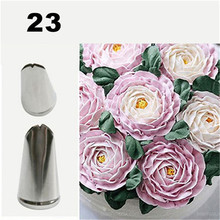 цена на #23 Leaves Nozzles Stainless Steel Icing Piping Nozzles Tips Pastry Tips For Cake Decorating Pastry Fondant Tools