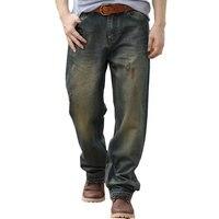 Homme lâche jeans hiphop planche à roulettes jeans baggy pantalon denim pantalon hip hop hommes ad rap jeans 4 Saisons grande taille 28-44
