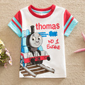 SMA Flags free shipping in spring 2015 baby&kid novel and interesting cartoon boy round collar short sleeve cotton T-shirt B8101