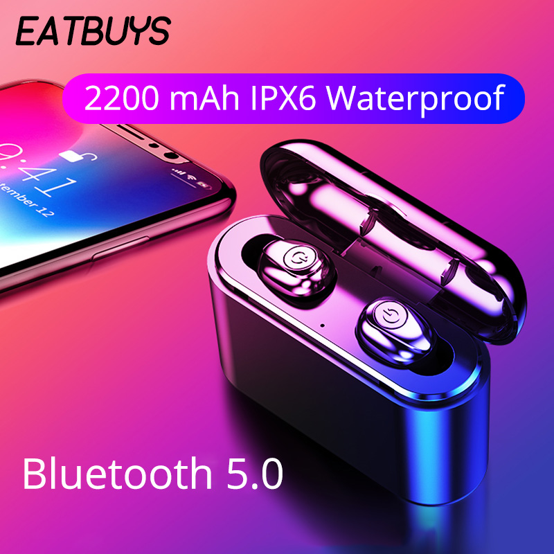 <font><b>TWS</b></font> <font><b>X8</b></font> <font><b>Bluetooth</b></font> Earbuds 5.0 Wireless Headsets Mini <font><b>Earphone</b></font> HiFi 5D Stereo Sound Waterproof Handsfree With Power Bank for Phone image