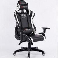 L350112 Work Office Chair 360 Degree Rotation Fixed Handrail High Density Sponge Filling Boss Office Chair