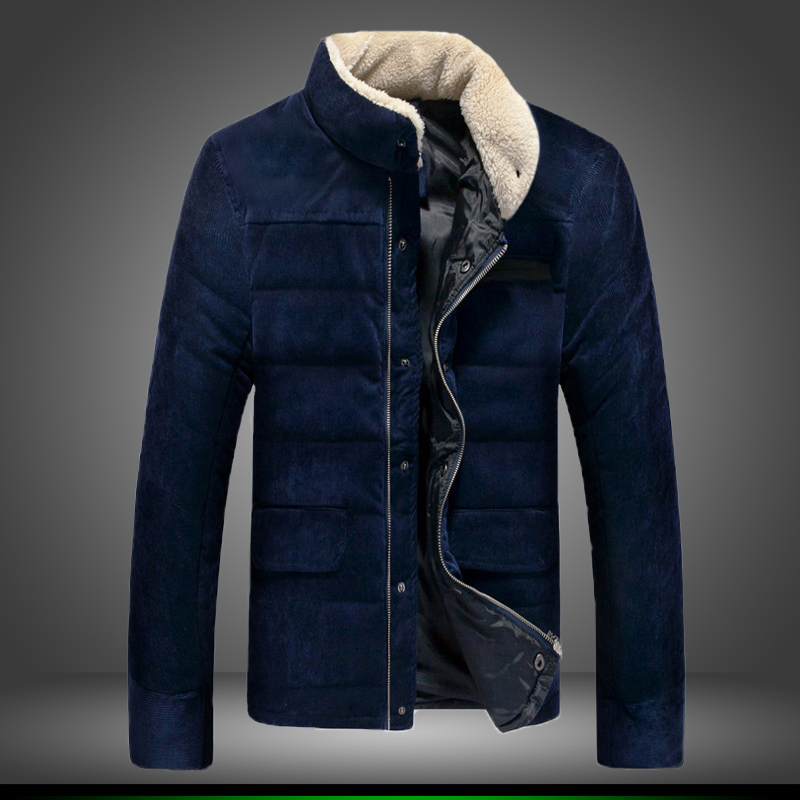 2016 men winter fashion brand thickening cotton padded clothes coat to keep warm business casual slim