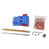 1Set Mini Pocket Hole Drill Dowel Jig With Step Drilling Bit Screwdriver Wrench Kit Set For